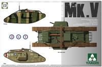 Мк. V танк-ромб (Mark V). 2034 Takom 1:35