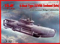 Zeehund сверхмалая подлодка Кригсмарине поздних серий. S.007 ICM 1:72
