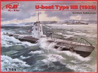 Typ IIB обр. 1939 подлодка Кригсмарине. S.009 ICM 1:144