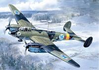 Пе-2 ВВС Финляндии пикирующий бомбардировщик (детали из смолы) - UM-102 Unimodel 1:72