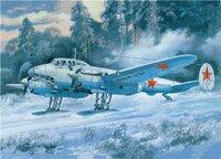 Пе-2 советский пикирующий бомбардировщик (серия 55) лыжный вариант - UM-104 Unimodel 1:72