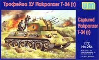 Flakpanzer на шасси T-34. Масштаб 1/72