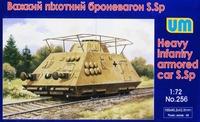 S.Sp. тяжелый пехотный броневагон. Масштаб 1/72