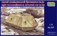 Le.Sp. легкий разведывательный броневагон. Масштаб 1/72