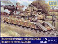 Танкоперевозная платформа с танком Pz.Kpfw.38(t). Масштаб 1/72