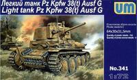 Pz.Kpfw. 38(t) Ausf. G немецкий легкий танк - UM-341 Unimodel 1:72