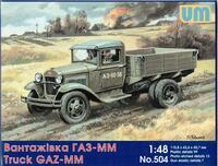 грузовик ГАЗ-ММ. Масштаб 1/48