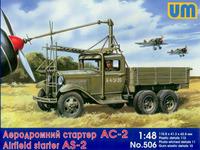 Аэродромный стартер АС-2 на базе ГАЗ-ААА. Масштаб 1/48
