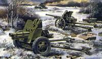 Противотанковая пушка 19-K 45 мм (1932) и пушка OB-25 76 мм (1943). Масштаб 1/72