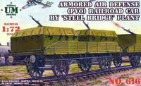 Бронированная платформа противовоздушной обороны. Масштаб 1/72