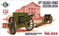 Трехдюймовая полевая пушка 1902 г. со щитом. Масштаб 1/35
