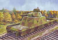 ПЛ-43 Артиллерийская бронеплощадка с башней Т-34-76. 629 UMMT 1:72