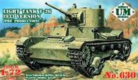 Легкий танк Т-26 обр. 1933 г. Масштаб 1/72