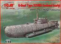 Zeehund сверхмалая подлодка Кригсмарине. S.006 ICM 1:72