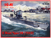 Typ IIB обр. 1943 подлодка Кригсмарине. S.010 ICM 1:144
