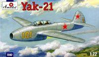 Як-21 учебно-тренировочный самолет. 7247 Amodel 1:72