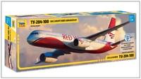 Ту-204-100 пассажирский самолет - 7023 Звезда 1:144