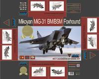 МиГ-31БМ истребитель-перехватчик. 86003-S AMK 1:72