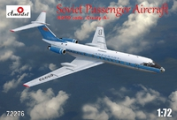 Ту-134 пассажирский лайнер «Аэрофлот». 72276 Amodel 1:72