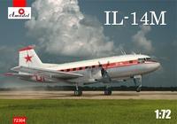 Ил-14М (поздний) ближнемагистральный авиалайнер. 72304 Amodel 1:72