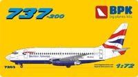 737-200 British Airways. 7203 Big Plane Kit 1:72