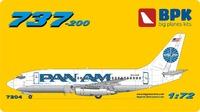 737-200 PanAm. 7204 Big Plane Kit 1:72