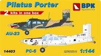 AU-23 and PC-6. 14403 Big Plane Kit 1:144