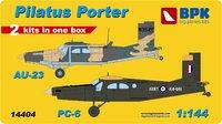 AU-23 and PC-6. 14404 Big Plane Kit 1:144