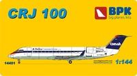 CRJ-100 региональный реактивный узкофюзеляжный лайнер. 14401 Big Plane Kit 1:144
