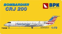 Bombardier CRJ 200 региональный реактивный узкофюзеляжный лайнер. 7208 BigPlaneKit 1:72