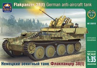 Немецкий зенитный танк Флакпанцер 38(t). Масштаб 1/35