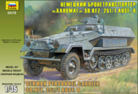 Sd.Kfz 251/1 Ausf.B Hanomag, БТР. Сборная модель в масштабе 1:35 <3572 zv>