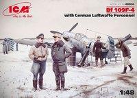 Bf.109F-4 истребитель с персоналом Люфтваффе. 48804 ICM 1:48