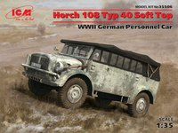 Horch 108 Typ 40 (с поднятым тентом) армейский автомобиль. 35506 ICM 1:35
