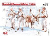 Финские пехотинцы зима 1940 г. 35566 ICM 1:35
