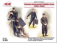 Немецкий экипаж бронеавтомобиля с котом 1941-1942 г. 35614 ICM 1:35