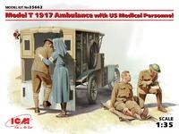 Model T 1917 санитарный фургон с медиками. 35662 ICM 1:35