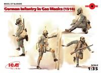 Германская пехота в противогазах (1918). 35695 ICM 1:35