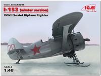 И-153 «Чайка» истребитель-биплан на лыжах. 48096 ICM 1:72