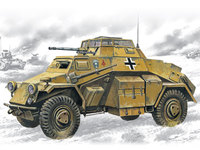 Sd.Kfz.222 легкий бронеавтомобиль. 72411 ICM 1:72
