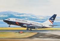 «Боинг-737-200» Авиалайнер АК «Бритиш Эйруэйз» (B732 British Airways). ЕЕ14469 ВЭ 1:144