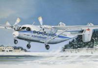 Ан-28 Пассажирский самолет АК «Аэрофлот». ЕЕ14435 ВЭ 1:144