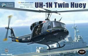 UH-1N Twin Huey вертолет - KH80158 Kitty Hawk 1:48