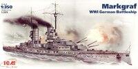 SMS Markgraf линейный корабль Кайзеровского флота. S.005 ICM 1:350