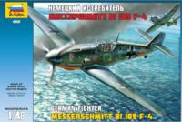Мессершмитт BF-109 F-4, истребитель.  Сборная модель самолета в масштабе 1:48 <4806 zv>