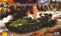 Артиллерийский тягач на базе трофейного танка Т-60 с Flak-30 на буксире. Масштаб 1/72