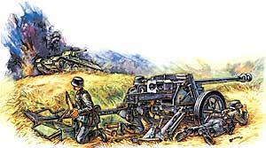PAK-40. Сборная модель ПТ пушки  в масштабе 1:100 <6257 zv>