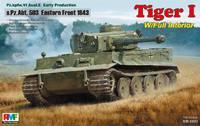 Т-VI «Тигр-I» (Pz.kpfw.VI Ausf. E) тяжелый танк 503-го батальона с полным интерьером. RM-5003 Rye Field Model 1:35