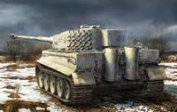 Т-VI «Тигр-I» (Pz.kpfw.VI Ausf. E) тяжелый танк с полным интерьером. RM-5010 Rye Field Model 1:35