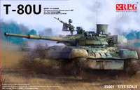 Т-80У танк - 35001 RPG Model 1:35